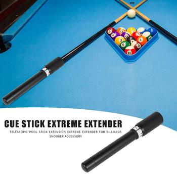 Telescopic Pool Cue Stick Extension Extreme Extender for Billiards Snooker Lengthening Accessories Full Grip Pool Cue Extension