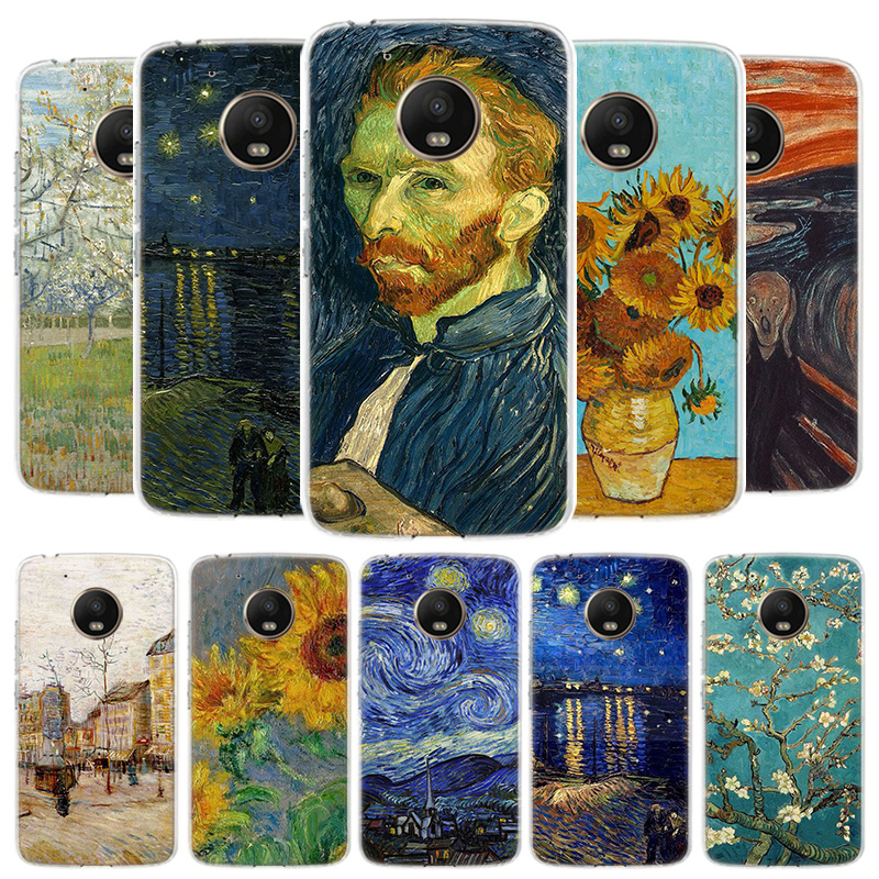 Van Gogh Oil Painting Cover Phone Case For Motorola Moto G8 G7 G6 G5S G5 E4 Plus G4 E5 E6 Play Power One Action EU Gift Shell