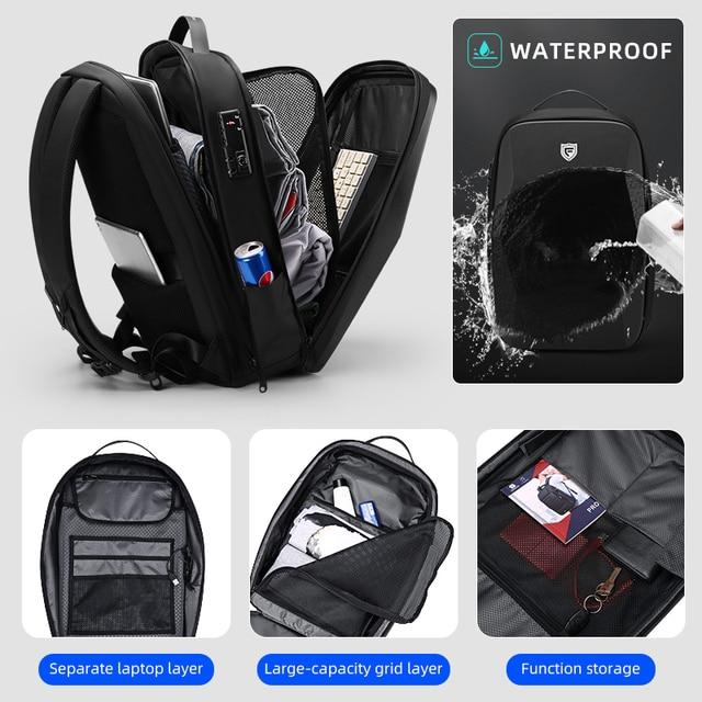 Fenruien Multifunction Men's Backpack 17.3 Inch Laptop Backpacks Anti-Theft Waterproof Business Backpacks Travel Bags 2020 New 4