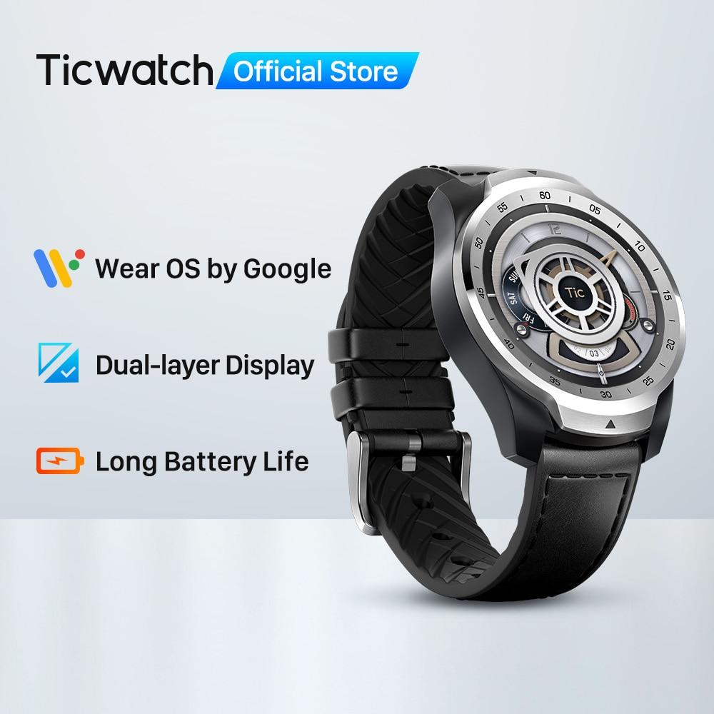 Closeout DealsTicwatch Tracking Heart-Rate-Monitor NFC Dual-Display Sleep Ip68 Waterproof 1GB 1GB-RAM