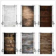 Laeacco Dark Wooden Board Vintage Grunge Texture Photography Backgrounds Newborn Backdrops Baby Shower Birthday Photozone Props