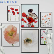 Three-picture Combination Nordic Fresh Green Leaf Art Flower Canvas Paintings for Living Room Wall Garden Decoration(China)