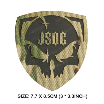 Parche reflectante infrarrojo JSOC de EE. UU., aplique Militar, gancho de bucle, emblema, parches DIY para uniformes tácticos, ropa, Parche Militar
