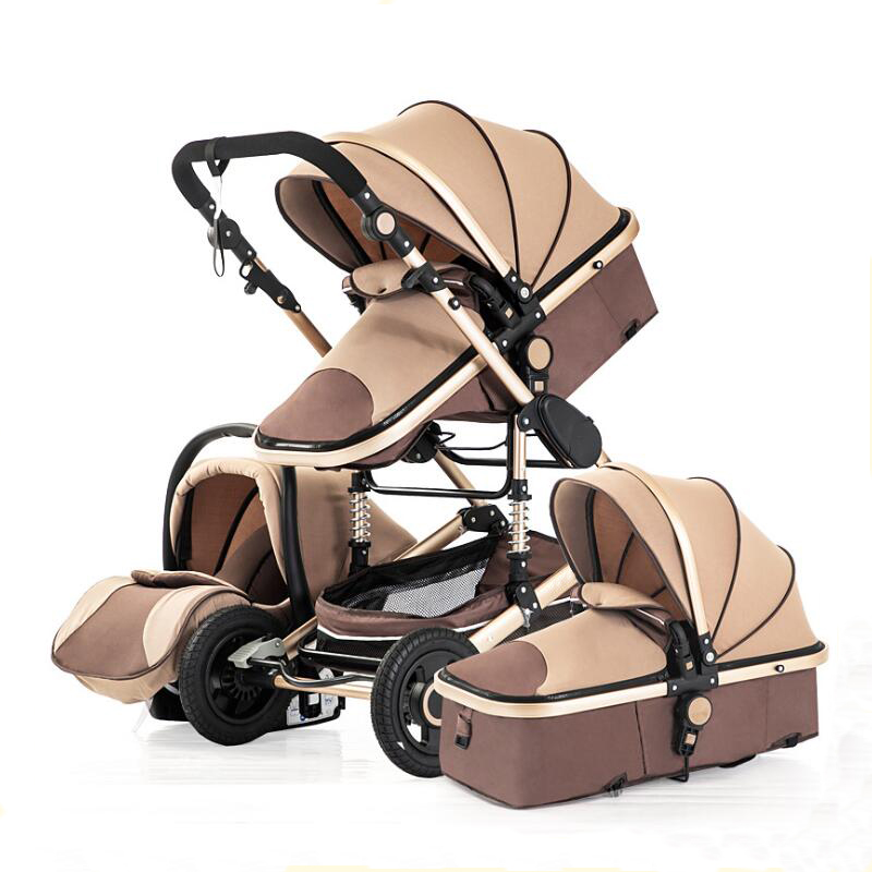 <font><b>Baby</b></font> Stroller <font><b>3</b></font> <font><b>in</b></font> <font><b>1</b></font> Multifunctional <font><b>Pram</b></font> for 0-36 Months Buggy Trolley image