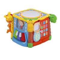 Six sided Box Educational Toys Children Shape Blocks 1 2 3 Years Old Baby Toys Educational 1 Year