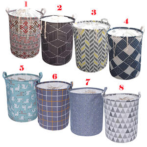 Storage-Organizer Handle-Bin Closure Laundry-Basket Canvas Folding Collapsible Large-Capacity