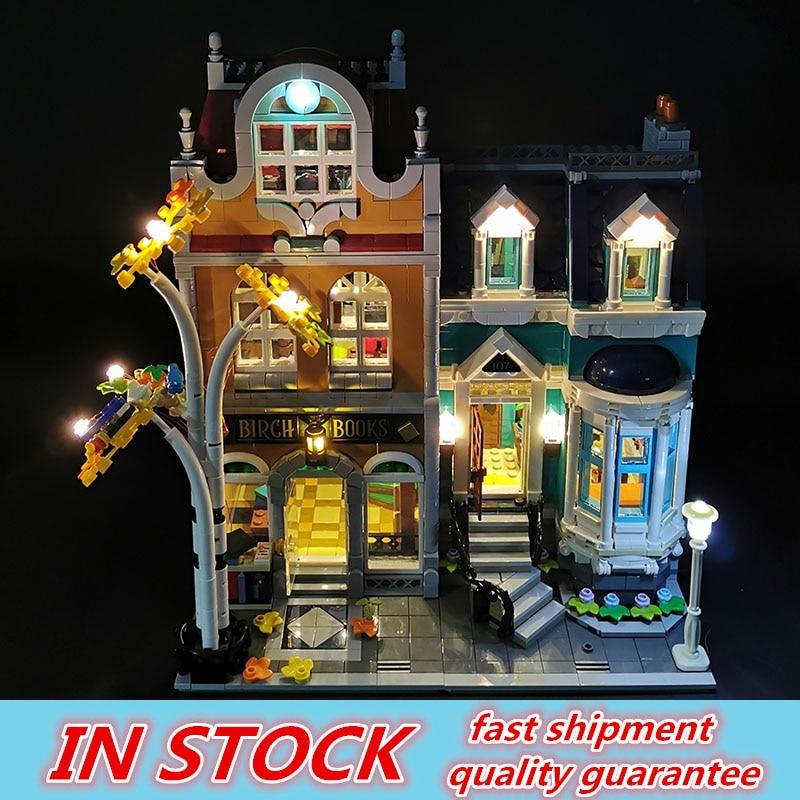Creator Series City Street View 2524PCS Bookshop Model With Led LIGHT Building Blocks Bricks Kits Compatible 10270 funny Gifts 1