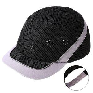 Image 3 - Tampão de colisão anti impacto capacetes de pouco peso capacete de segurança de trabalho de proteção com listras reflexivas respirável chapéu de segurança 4 cores