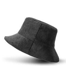 Вельветовая флисовая Двусторонняя шляпа рыбака женская зимняя