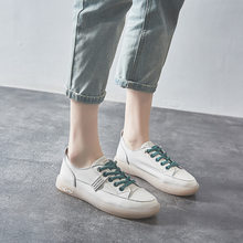 Fashion Shoes Women's Vulcanize Shoes Spring Summer New Casual Classic Genuine Leather Shoes Women Casual White Shoes Sneakers