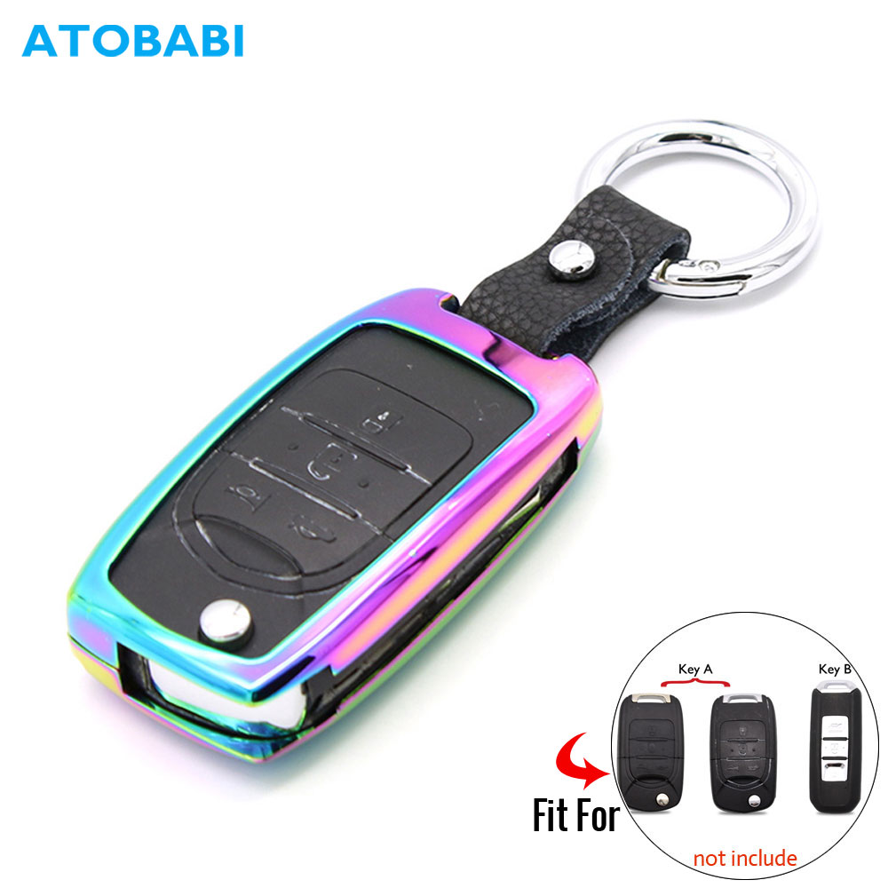 Zinc Alloy Car Key Case For Baojun 730 510 560 310 610 630 Remote Control Fob Protector Cover Frame Keychain Bag Auto Accessory|Key Case for Car|Automobiles & Motorcycles - title=