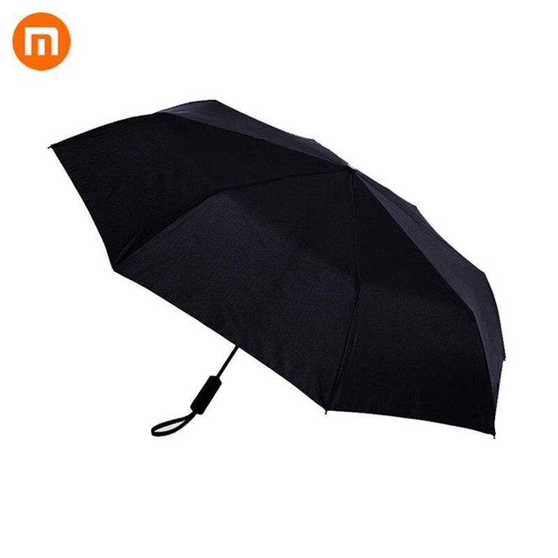 Xiaomi Mijia WD1 автоматический дождливый Зонт Карманный Солнечный дождливый летний алюминиевый ветрозащитный водонепроницаемый УФ зонтик солнцезащитный козырек для мужчин и женщин - Цвет: Черный