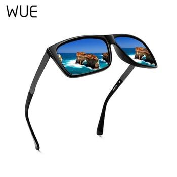 2019 New Polarized Sunglasses Men Mirrored Driving Glasses Black Rectangle Male Cool Fashion Classic S6076