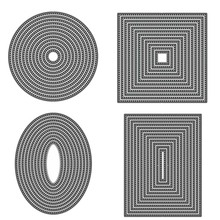 Circle Rectangle Oval Basic Frame Metal Cutting Dies for DIY Scrapbooking Crafts Die Cut Stencils Card Make Paper Album Template