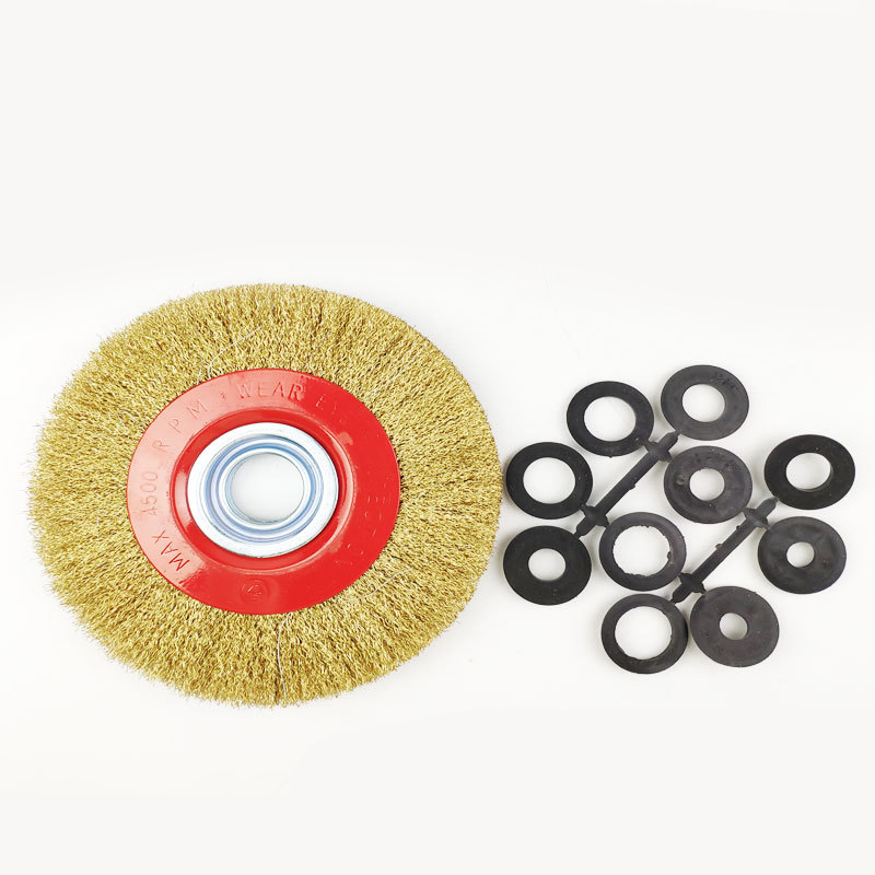 Wire Brush 125mm/150mm/200mm Wire Wheels Round Brass Plated Steel Wire Brush Wheel For Bench Grinder High Quality Brush