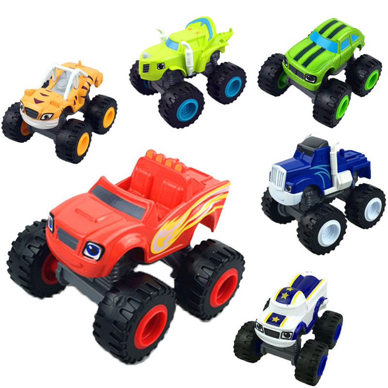 Car Toys 6pcs Set Crusher Truck Vehicles Figure Blazed Toys For Children Birthday Gifts Blazer Kid Toys