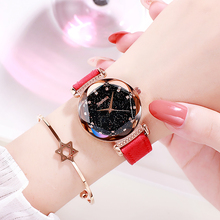 New Fashion Women Watch Red Leather Band Quartz Wristwatch Lady Watches Casual Watch Girl Wrist Clock Reloj Mujer Drop Shipping fashion women watches clock star moon meteor series lady wristwatch leather band analog watch female dress watch reloj mujer