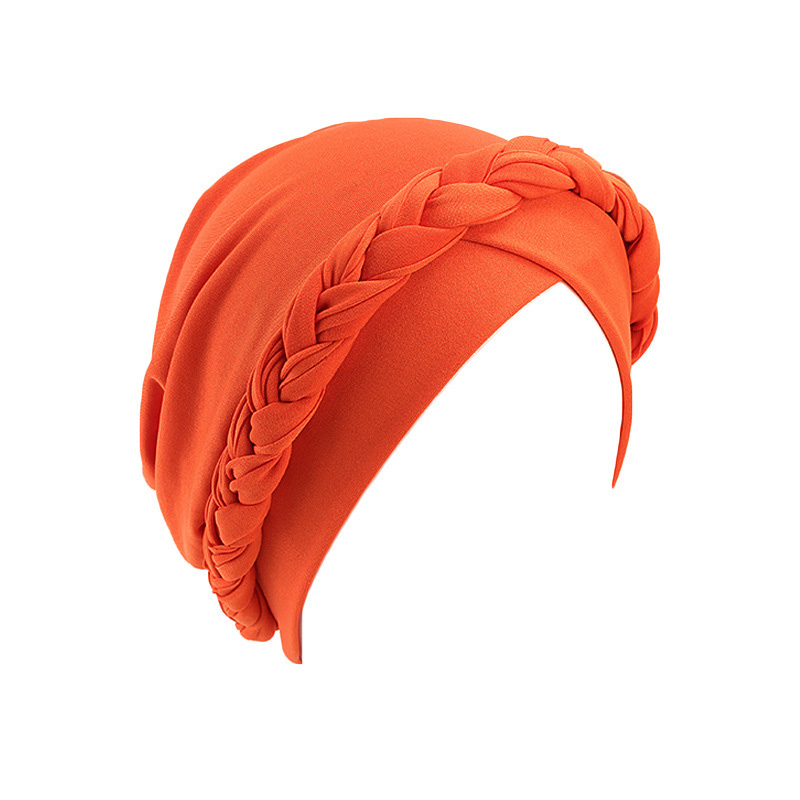H79a50a5650084b57a10d4a04dea8fafcW - NEW arrival Retro Women Braid India caps Muslim Cancer Chemo full cover-up  Beanie Hair Loss Turban femme Wrap