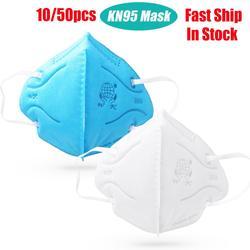 50/100 stücke Gesicht Masken vlies Anti-staub Atemschutz Sicherheit Schutz Ohrbügel Staub Maske Mund Abdeckung schnelle Versand