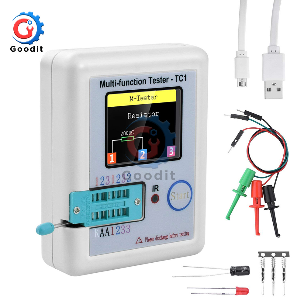 3.5 inch (160*128) Colorful Display <font><b>Multi</b></font>-<font><b>functional</b></font> TFT Backlight Transistor LCR-<font><b>TC1</b></font> <font><b>Tester</b></font> for Diode Triode Capacitor Resistor image