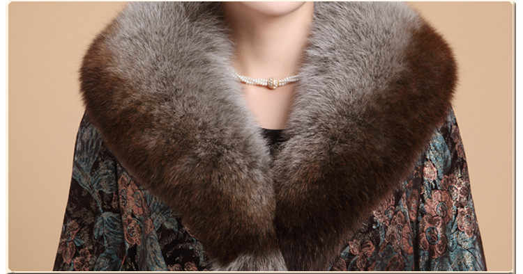 Chaqueta de piel auténtica de Invierno para mujer, abrigo de piel de zorro con cuello de piel de cerdo, chaquetas de piel de conejo para mujer de talla grande 6xl MY s