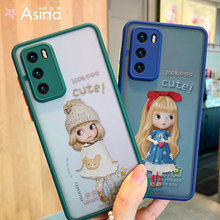 Matte Transparent Case For Huawei P40 P30 Mate20 Lite 30 40 Nova 3i Cute Cartoon Cover Bumper For Huawei Nova 5t Fundas Capas