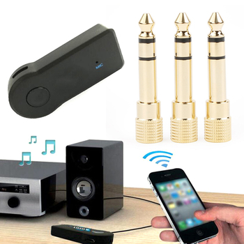 New 3.5mm Female Jack To 6.5mm Male Plug Stereo Headset Jack Headphone Car Wireless Bluetooth Microphone Audio Adapter Converter image