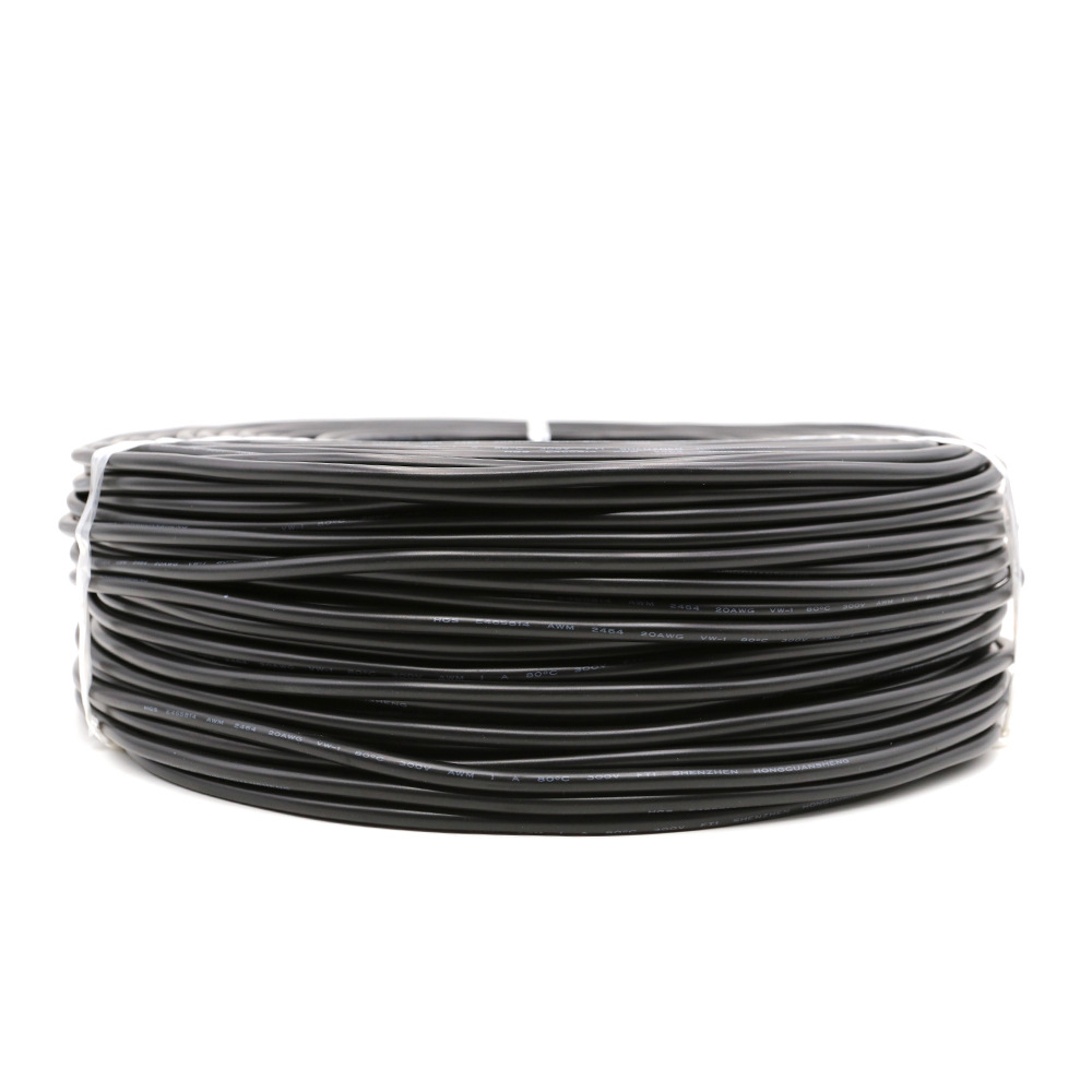 <font><b>2pin</b></font> Tinned Copper Black 22AWG <font><b>20AWG</b></font> 18AWG PVC insulated Extend Cable Wire Cord Free Cutting for led strips Black color image