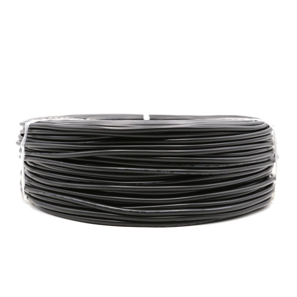 2pin Луженая Медь Черный 22AWG 20AWG 18AWG ПВХ изолированный Удлинительный кабель провод бесплатная резка для светодиодных полос черный цвет