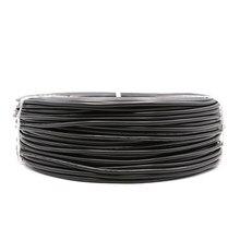 2pin estanhado cobre preto 22awg 20awg 18awg pvc isolado estender cabo de fio de cabo de corte livre para tiras led cor preta