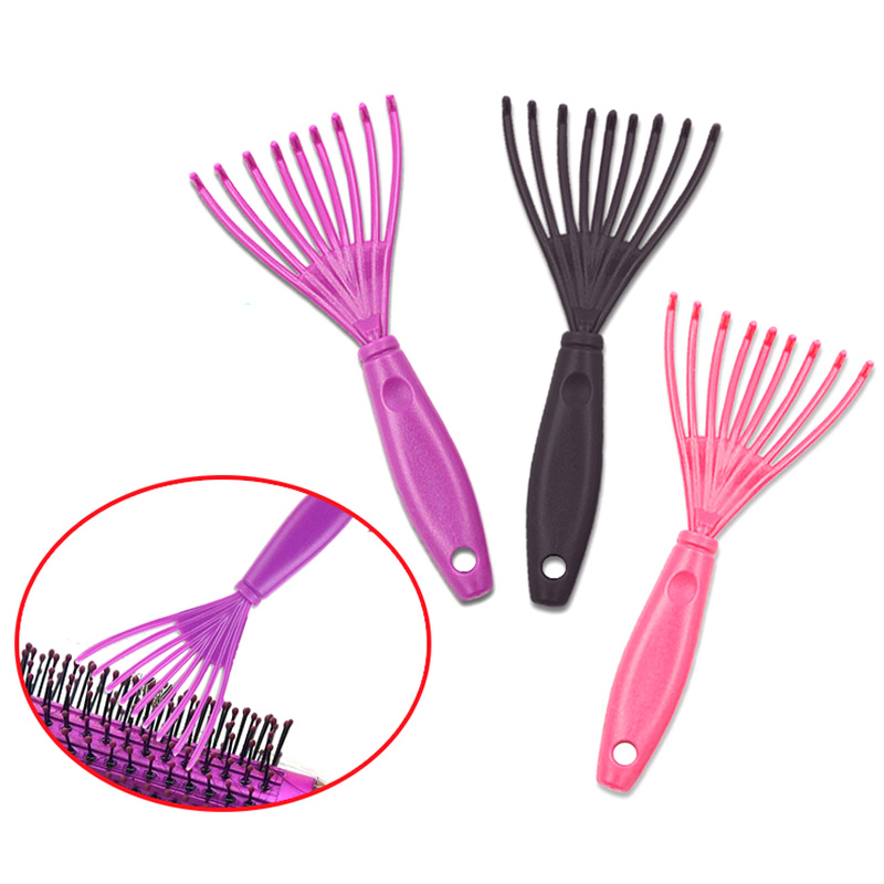 Pro 1 Pcs Plastic Hair Brush Cleaner Mini Hair Comb For Cleaning Small Hair Claw Brush Beauty Tools In Random Color