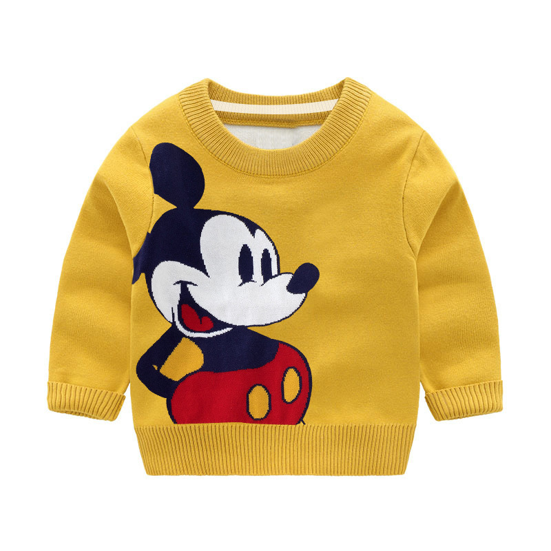 Embroidered Sweaters Knit Toddler Girls Boys Pullovers Winter Warm Kids Baby Coat
