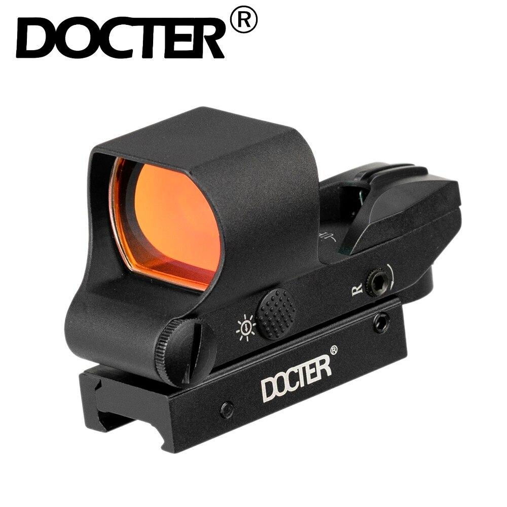 Spor ve Eğlence'ten Nişan Dürbünleri'de Doktor kırmızı nokta görüşü optik Ravage 1x28x40 kırmızı nokta tüfek kapsam 4 Reticle yansımalı nişangah 20mm Weaver taban title=