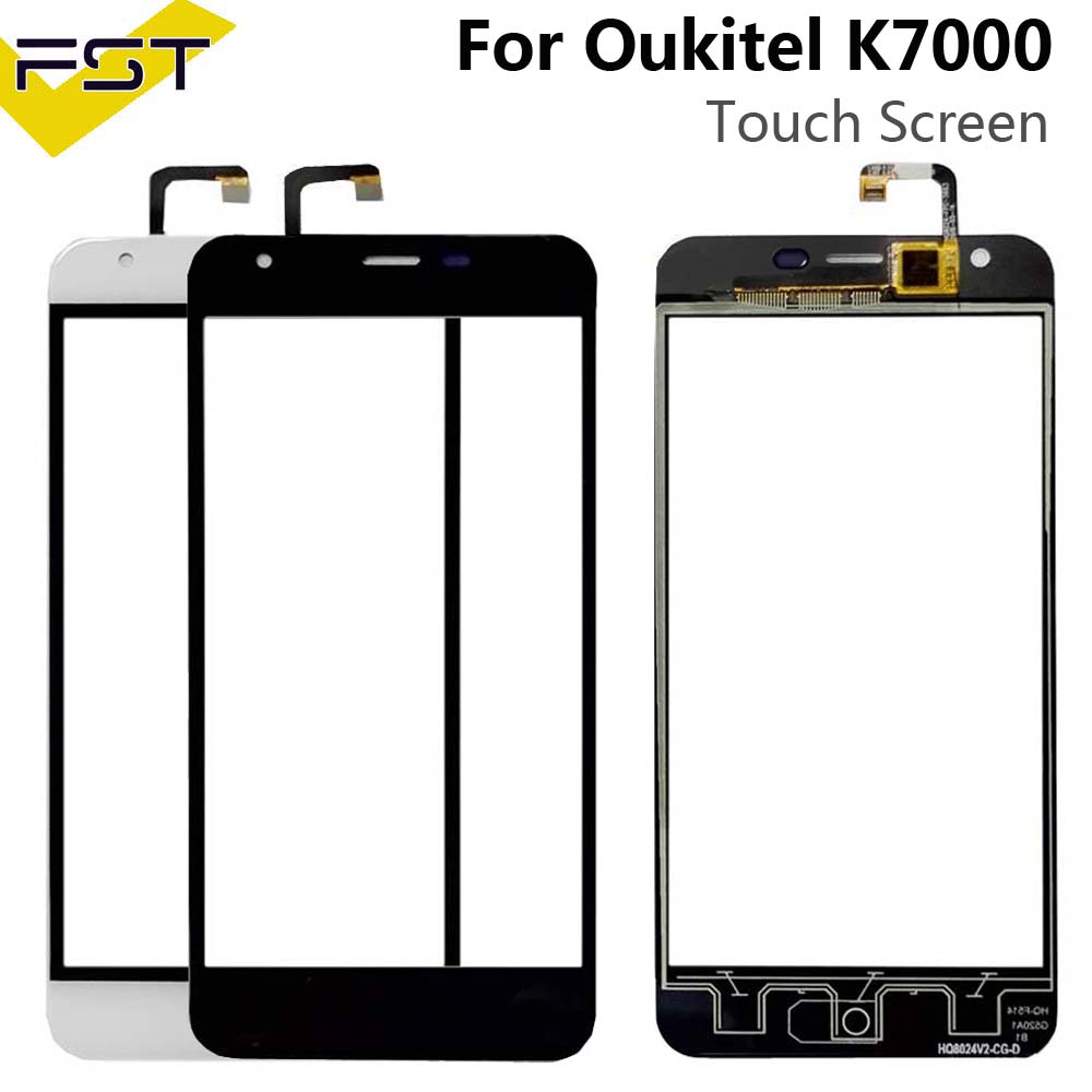 Black Touchscreen For Oukitel K7000 Touch Screen Digitizer Touch Panel Glass Sensor For K7000 Phone Repair +Free Tools