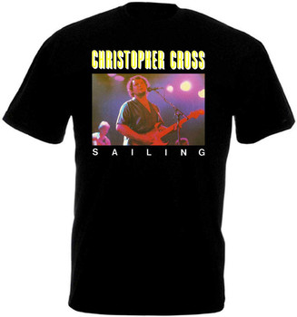 Christopher Cross Sailing v17 T shirt black all sizes S-3XL Men Women Unisex Fashion tshirt Free Shipping