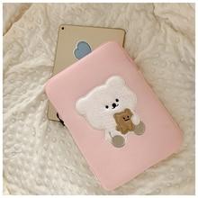 Чехол для планшета Корейская сумка с милым медведем для Mac Apple сумка для ноутбука Женская Студенческая сумка 11 дюймов 13 дюймов защитный чехо...