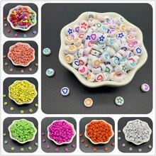 100 pçs/lote 7MM Espaçados de Forma Oval Acrílica Contas Estrelas Lua Beads Para Fazer Jóias DIY Encantos Pulseira Colar