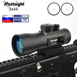 Bestsight 1x40 3x44 2x40 Green Red Dot Sight Scope Tactical Optics Riflescope Fit 11/20mm rail Rifle Scopes for Hunting