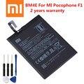 2020 оригинальный сменный аккумулятор XIAOMI BM4E для Xiaomi MI Pocophone F1 Poco F1 Оригинальный аккумулятор для телефона 4000 мАч