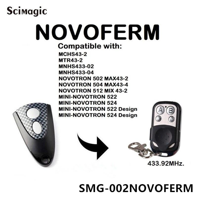 NOVOFERM NOVOTRON 302/304,NOVOFERM MNHS433-02/04 Replacement Garage Door Remote Control
