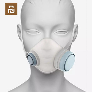 Image 4 - Youpin Woobi לשחק למבוגרים מסכת 4 שכבה מגן אחד דרך שסתום פנים מסכת PM2.5 אוויר זיהום מסכת Dustproof לנשימה