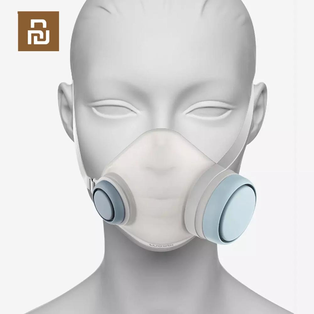 Image 4 - Youpin Woobi Play маска для взрослых 4 слойная Защитная односторонняя маска для лица с клапаном PM2.5 воздухопроницаемая Пылезащитная маскаМаски    АлиЭкспресс