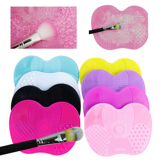 Silicone Makeup Brush Cleaning Pad Brush Cleaner Mat Cosmetic Make Up Brushes Washing Scrubber Board Tool make up set Щетка мат 1