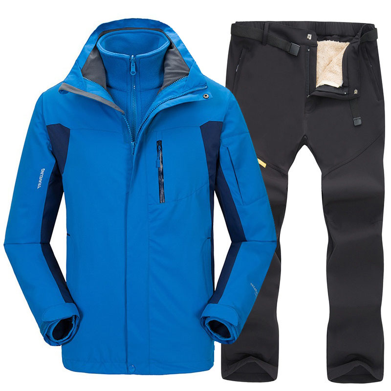 Ski Suit Men Windproof Waterproof Ski Jacket And Pants Winter Snow Skiing And Snowboard Jackets Suits Outdoor Hiking Jacket Sets