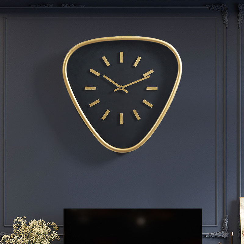 Nordic  Unique Luxury Gold Wall Clock Living Room Wall Watch Mute Creative Simple Modern Hanging Luxury Wall Clocks Home C6T46