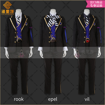 Costume Made Twisted Wonderland Snow White POMEFIORE Epel Rook Vil School Uniforms Cosplay H