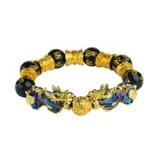 Color Change Pi Xiu Mantra Beaded Bracelets Attract Wealth and Good Luck For Men Bracelet Jewelry feng shui pi xiu charm red string bracelet color change kabbalah braided mood bracelets attract wealth good luck jewerly