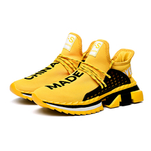 2019 New Fashion Breathable Air Mesh Ultra-boost Yellow Sports Men Shoe