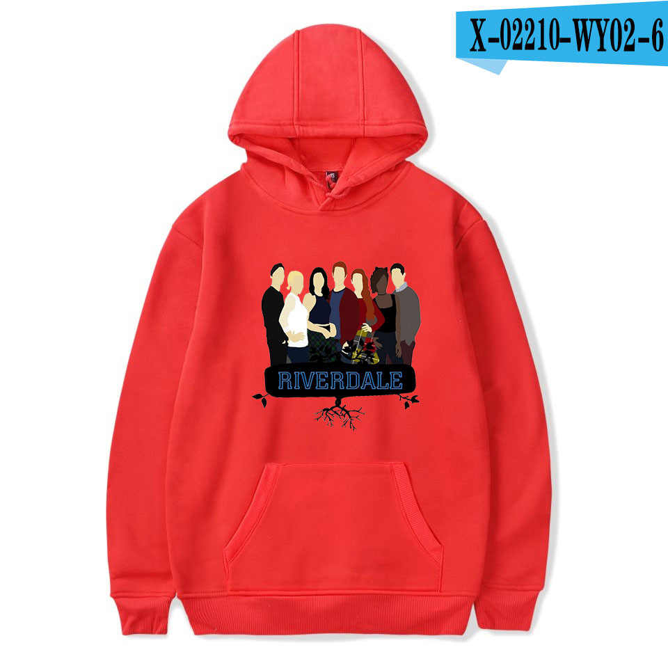 Print Riverdale Hoodie Sweatshirts Men Women Casual Hoodies Long Sleeve Pullover Harajuku Serpents Streetwear Clothes
