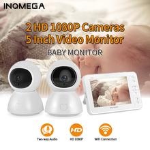 INQMEGA 5 cal elektroniczna niania Night Vision 1 ekran 2 3 kamera monitorująca 1080P kamera ochrony opiekunka do dziecka kamery tanie tanio wireless Wideo i Audio HD 1080 P CN (pochodzenie) color CMOS Domofon IP Sieci APLIKACJI Telefonu komórkowego Dziecko Cry Alarmu